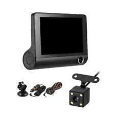 "1080P 4"" Dual Lens Car DVR Rearview Video Dash Cam Reco L0Z1 HOT Camera C6U1"