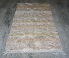 Hand Knotted Zari Work White Kilim Rug Carpet Turkish Rug Moroccan Area Rug 4x6F