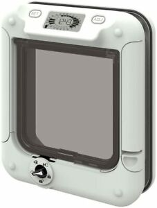 Large Cat Mate Timer Control Exit Times Lock Unlock Programmable Flap With LCD