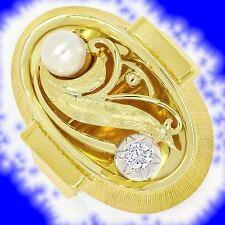 Markenlose mit Diamanten Ringe aus mehrfarbigem Gold