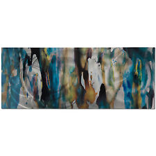Metal Modern Abstract Urban Wall Art Painting Watercolor Decor Blue Earth Tones