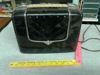 Zenith Tube Radio Vintage Black For Parts ONLY rare