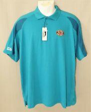 NWT Slazenger Golf Apparel Aqua Blue Polo Shirt Men's XL Warrior Foundation
