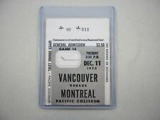 1973/74 VANCOUVER CANUCKS MONTREAL CANADIENS TICKET STUB NICE LARRY ROBINSON RC