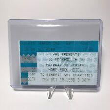 Smashmouth Hard Rock Hotel Concert Ticket Stub Las Vegas Nevada October 19 1998