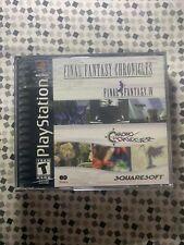 Final Fantasy Chronicles Ff Iv & Chrono Trigger Playstation 1 Ps1 Complete Cib