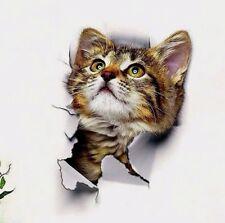 3D Wandsticker Wandtattoo Badezimmer  niedliche Katze ca. 25 cm x 16,5 cm