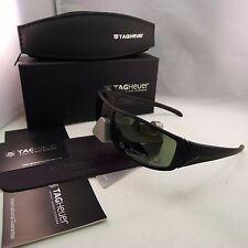 TAG HEUER RACER TH 9205 311 MATTE BLACK GREEN OUTDOOR SUNGLASSES 65MM AUTHENTIC