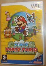ORIGINALE NINTENDO Wii GIOCO SUPER PAPER MARIO PAL testati VERSI