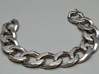 Extrem breit, schwer - Handarbeit Silber Armband Statement 20 cm /1,6 cm / A101
