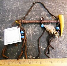 NATIVE AMERICAN INDIAN MADE GENUINE SMALL ANTLER PEACE PIPE - NAVAJO