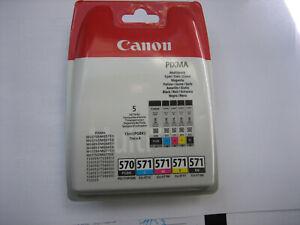 ORIGINAL 5x TINTE CANON CLI-571  CYMBk+ PGI-570 PGBK for MG-6852  MG-7751