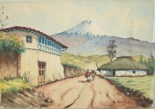 LATIN AMERICAN WATERCOLOR ON PAPER SIGNED BY THE ARTIST AND DATED 1966
