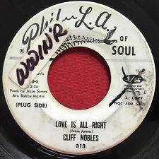 CLIFF NOBLES ~ LOVE IS ALRIGHT ~ RARE NORTHERN PROMO 45 ~ PHIL L.A. OF SOUL 313