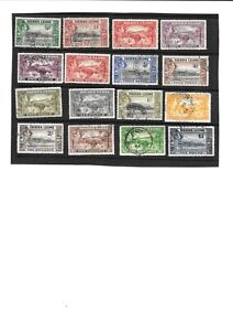 SIERRE LEONE  KGVI 1938 - 44  DEFINITIVES  SET  FINE. USED