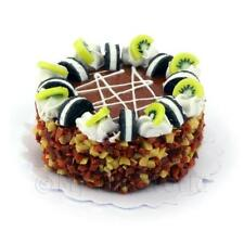 Dolls House Miniature Toffee Cake With Oreos Cream And Kiwi Pieces
