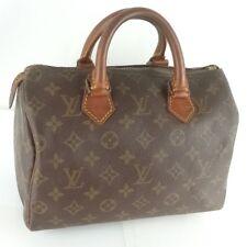 Auth LOUIS VUITTON SPEEDY 25 Hand Bag Doctor Purse Monogram M41528 Brown
