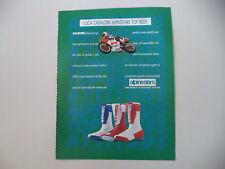 advertising Pubblicità 1990 ALPINESTARS e LUCA CADALORA