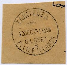 GILBERT + ELLICE ISLANDS TABITEUEA FULL CANCEL on SMALL PIECE 1967