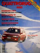 Quattroruote 495 1997 Test e Poster Opel Vectra. Fiat Punto '97. Jaguar XK8 Q.35