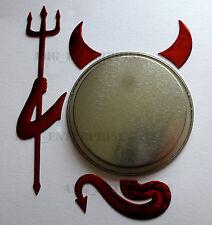 RED Chrome Effect Devil Badge Sticker for Fiat Grande Punto Sporting Evo Bravo