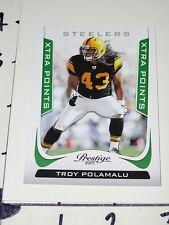 Troy Polamalu: 2011 Prestige Xtra Points Insert SP/25 Pittsburgh Steelers USC