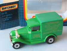 Matchbox MB-38 Ford Model A Van William Lusty Cakes Green Body Gold Print