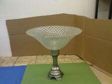 BOWL GLASS ON METAL STAND