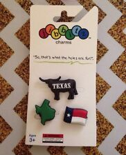 Texas Longhorn State Flag 3pc Set Jibbitz Charms Collectable