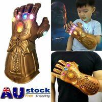 Figure LED Light Thanos Infinity Gauntlet Marvel Legends Gloves Avengers Kids %N