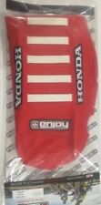 Honda CRF 250 R 2018 - 2019 Ribbed Gripper Logo Seat Cover All Red White Ribs