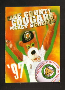 Kane County Cougars--1997 Pocket Schedule--Old Kent--Marlins Affiliate