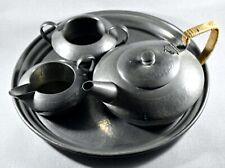 VINTAGE TUDRIC PEWTER BATCHELORS TEA SET