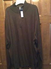 NWT Polo Ralph Lauren Big&Tall Merino Wool 1/4 Zip Sweater Size 4XLT