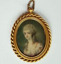 Miniatur Portrait, einer Dame, Gouache, 18. Jahrhundert