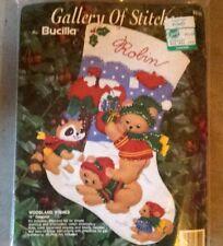"""Bucilla Felt Stocking Kit 15"""" Woodland Wishes NEW"""
