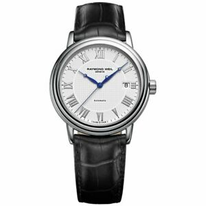 Raymond Weil Maestro Men's Automatic Leather Strap Watch 2837-STC-00308 RRP £865
