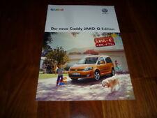 VW Caddy JAKO-O EDITION Prospekt 03/2013