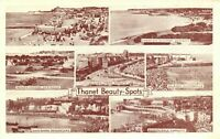 Vintage Kent Multi View Postcard THANET Beauty Spots AI2