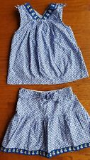 Janie and Jack SANTORINI ISLAND Greek Isle 2-piece top and skirt set blue 4T
