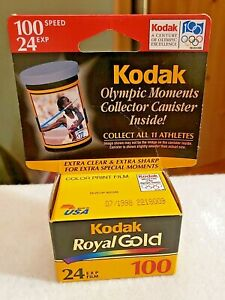 VINTAGE KODAK ROYAL GOLD 100 SPEED 24 EXP COLOR PRINT FILM EXPIRED 1998 OLYMPICS