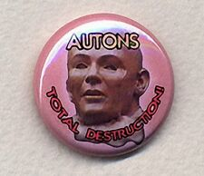 AUTONS: TOTAL DESTRUCTION! - Doctor Who small 25mm Badge Button Pin