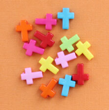 SALE 25 Cross Beads Assorted Acrylic 16mm x 12mm - K165