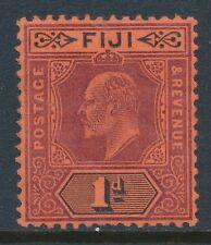 1904-09 FIJI 1d PURPLE & BLACK/RED FINE MINT MNH SG116