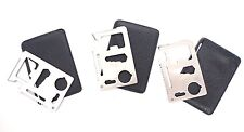 Lot of 3pcs 11 in 1 Multifunction Multi Credit Card Survival Knife Camping Tool