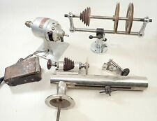 Pulley Stand Motor Repair Lot Vintage Levin Watchmaker Lathe &