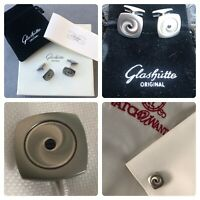 Glashutte Original GO G.O. Stainless Steel Mens Watch Gears Cufflinks Brand New