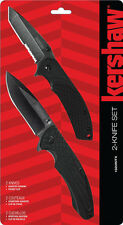 Kershaw 2-knife Combo Set, Assisted Opening w/ Pocket Clips #1322KITX