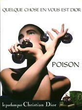 Publicité ancienne Parfum Poison Christian Dior non parfumé
