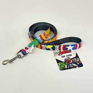 Marvel Avengers 4 Foot Dog Leash With Metal Clip Hulk Iron Man Brand New